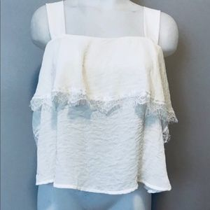 New CAD lace detail popovers tank top
